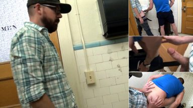 Film This Fucker! - Public Restroom Breeding - CumClub.com