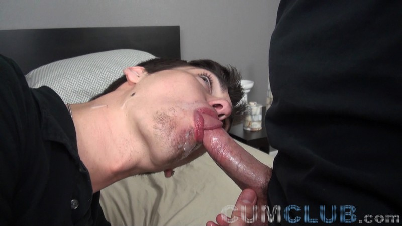 Swallowing a Huge Load - CumClub.com