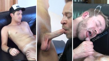 Sucking Out a Big Load - CumClub.com